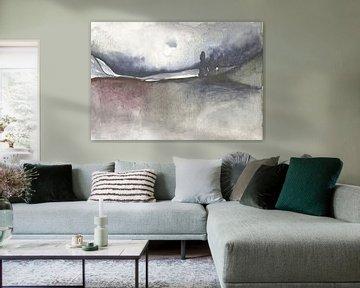 Endless Wood 2 (right side of 2 part Artwork) van Jolanda Janzen-Dekker