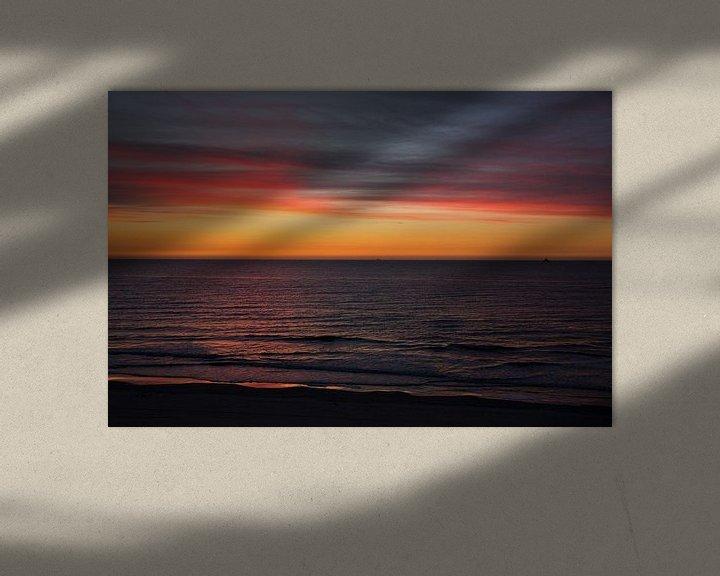 Impression: Rouge et jaune après le coucher du soleil Vlieland. sur Gerard Koster Joenje (Vlieland, Amsterdam & Lelystad in beeld)