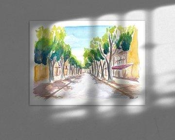 Aix en Provence Cours Mirabeau Straßenszene von Markus Bleichner