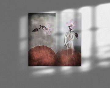 Mannequin achter rode heuvels van Monique Holterman