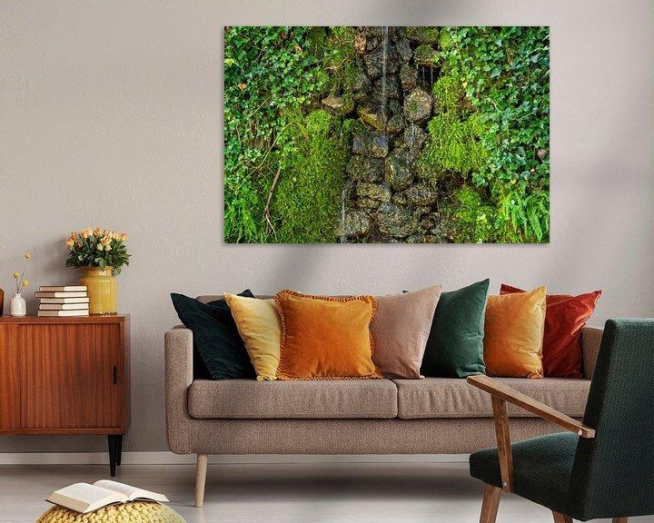 Beispiel: Wasser an moosbewachsener Natursteinmauer von Fartifos