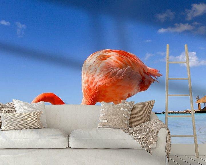 Beispiel fototapete: Flamingo von Marit Lindberg