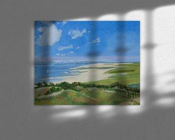 Strand auf Terschelling von Antonie van Gelder Beeldend kunstenaar