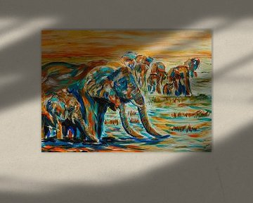 Dorstige Olifanten van Eye to Eye Xperience By Mris & Fred