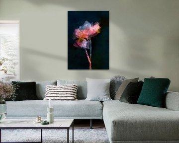 Blumen auf dunklem Hintergrund von Angel Estevez