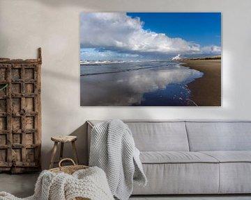 Noordzeestrand bij Zandvoort, Nederland van Peter Schickert