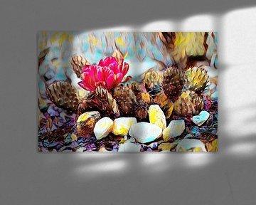 Kaktus - Ölmalerei von Patricia Piotrak