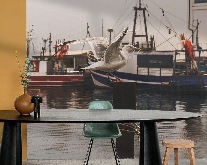 Impression: Mouette au port sur Lisa Zet