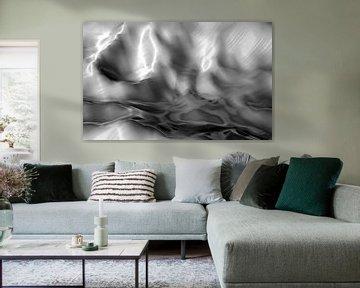 Abstrakte Landschaft in Grautönen von Maurice Dawson