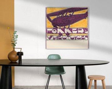 Reijer Stolk, Entwurf für Werbung für Fokker-Flugzeuge, 1906 - 1945