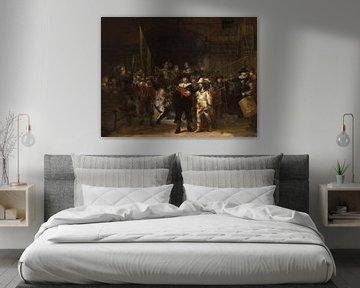 La Garde de nuit, avec des parties manquantes, Rembrandt