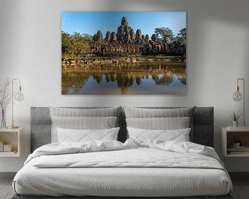 Complexe de temples khmers Bayon, Angkor Thom, Cambodge sur Peter Schickert