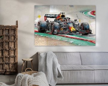 Max Verstappen Gemälde von Jos Hoppenbrouwers