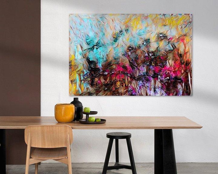 Beispiel: Abstrakte Kunst - Feuer und Eis von Patricia Piotrak