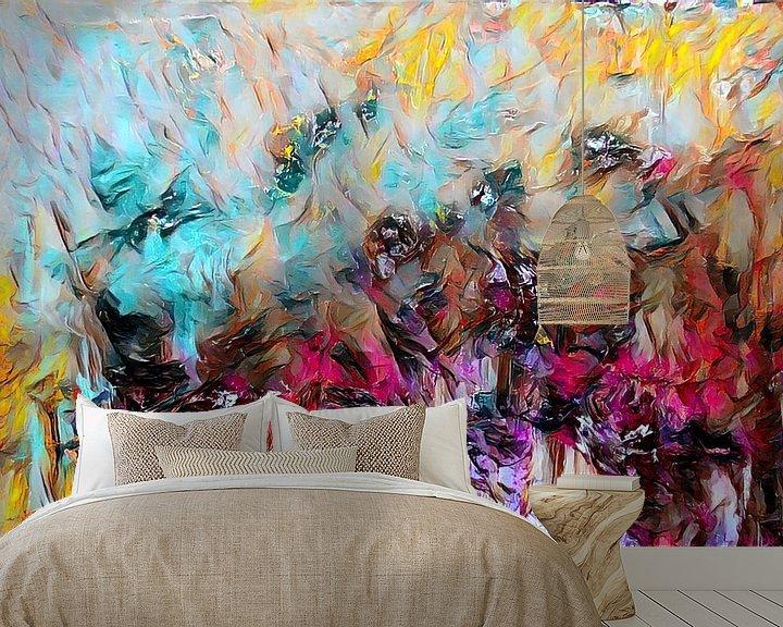 Beispiel fototapete: Abstrakte Kunst - Feuer und Eis von Patricia Piotrak