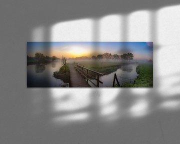 Panorama du Kromme Rijn sur le domaine de Rhijnauwen
