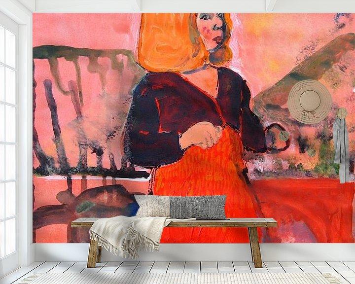 Sfeerimpressie behang: écureuil van Sandrine Lambert