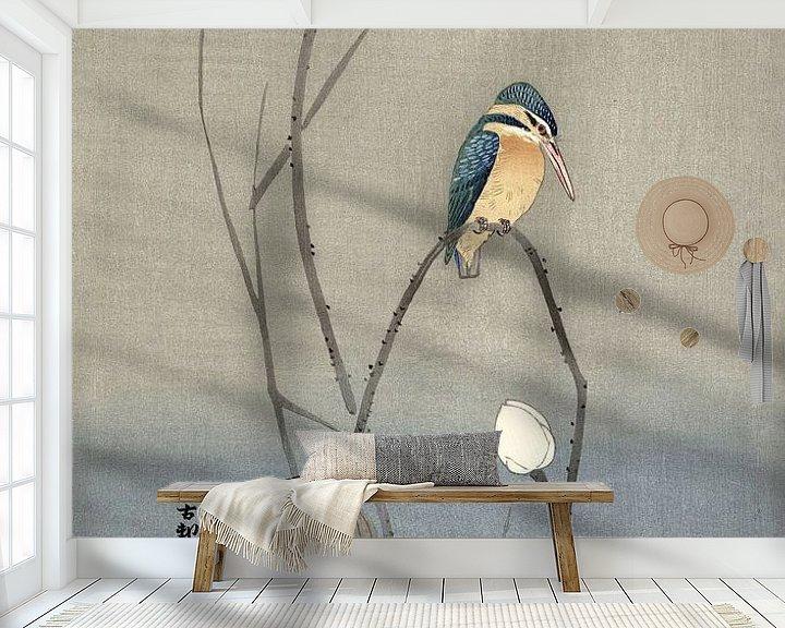 Sfeerimpressie behang: Japanse Ijsvogel in een bewerking van nu van Affect Fotografie