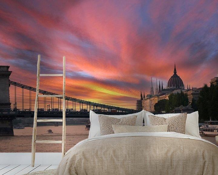 Sfeerimpressie behang: Boedapest Hongarije van Brian Morgan