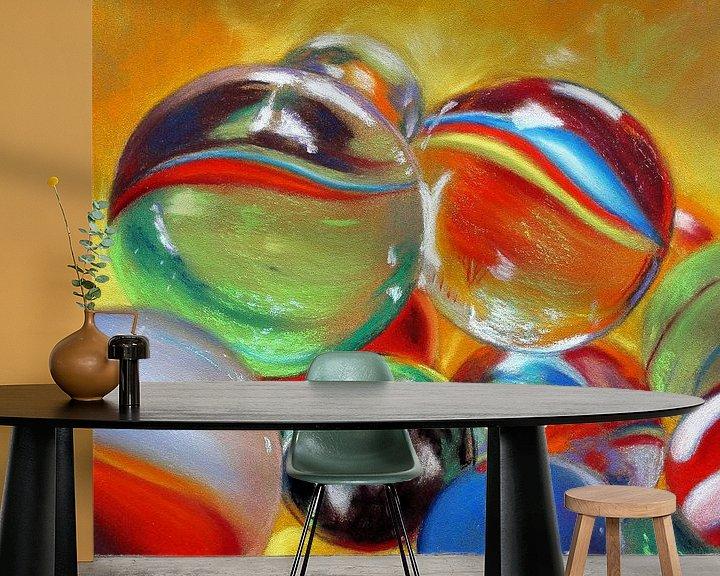 Beispiel fototapete: Murmeln von Renate Dohr