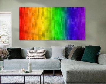 Regenboog pixels van Patrick Herzberg