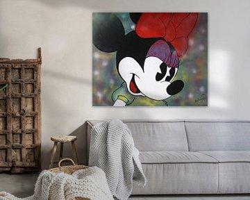 """Minnie Mouse """"Yesterday"""" van Kathleen Artist Fine Art"""