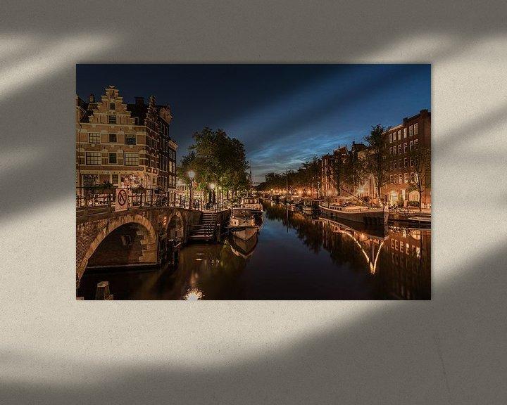 Sfeerimpressie: Lichtende nachtwolken boven de Papiermolensluis van Jeroen de Jongh