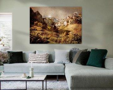 Spanje Camaleno landschap schilderij #spanje van JBJart Justyna Jaszke