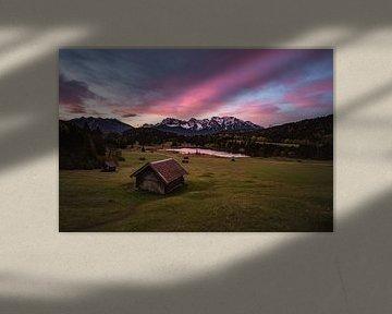 Zonsopgang aan de Geroldsee van Sebastian Leistenschneider
