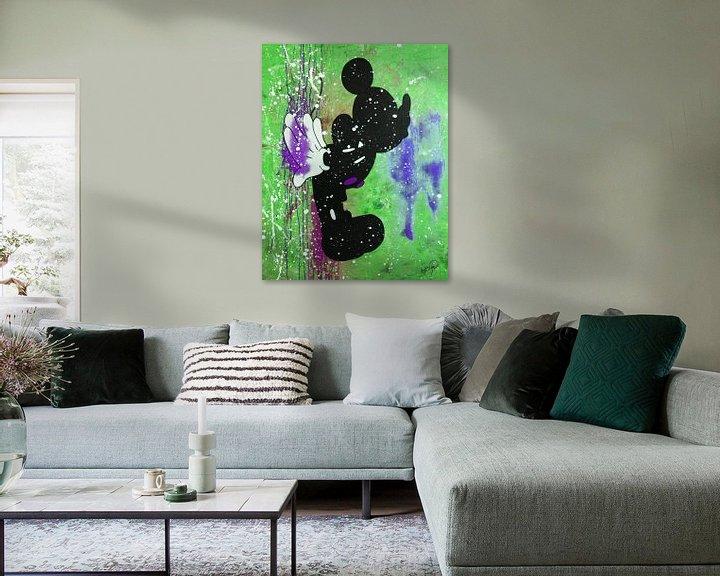"""Beispiel: Mickey Mouse """"Kuss"""" von Kathleen Artist Fine Art"""