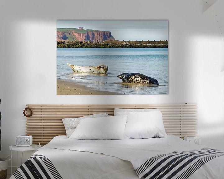 Beispiel: Kegelrobben am Strand der Nordseeinsel Helgoland von Ralf Lehmann
