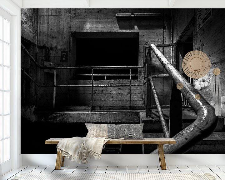 Beispiel fototapete: Werkstreppe monochrom von Olivier Photography