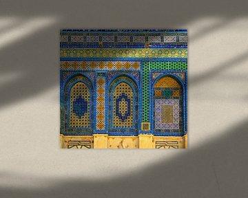 Mozaïken op de Dome of the Rock, Jeruzalem, Israël, Midden-Oosten van Mieneke Andeweg-van Rijn