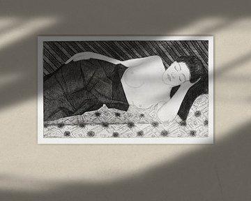 Samuel Jessurun de Mesquita, Slapende figuur (1917) van Atelier Liesjes