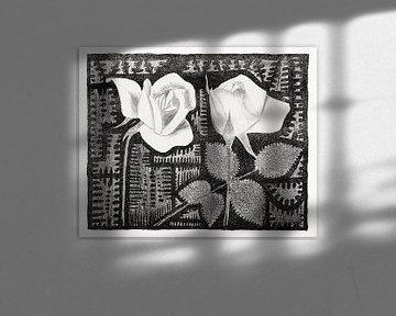 Samuel Jessurun de Mesquita, Twee rozen (c.1920) van Atelier Liesjes