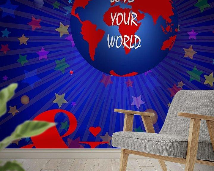 Sfeerimpressie behang: Hou van je wereld JM00118 van Johannes Murat
