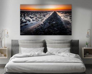Sonnenuntergang auf dem Wattenmeer 1 von Jan Peter Nagel