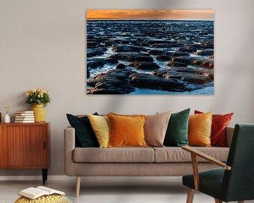 Sonnenuntergang auf dem Wattenmeer 3 von Jan Peter Nagel