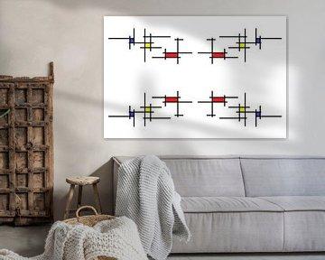 Mondrianoïde 3 van Henk-Jan van Tuyl