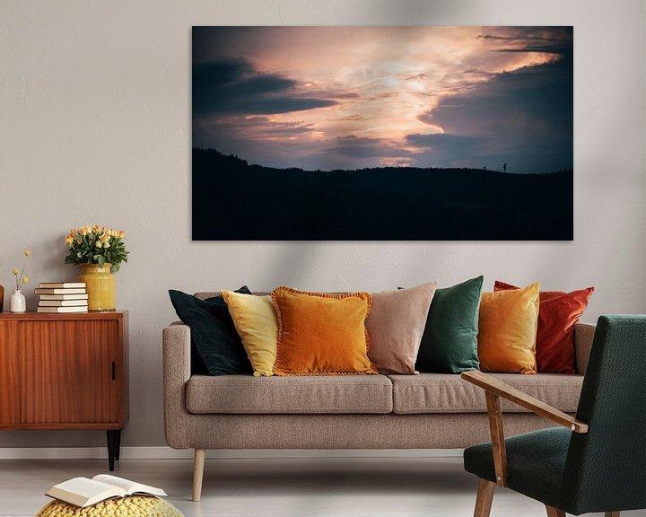 Beispiel: Sonnenuntergang über dem Berggipfel von Denny Lerch
