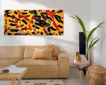 Schwarz und Rot und Gelb (Breitwandfoto) von Norbert Sülzner
