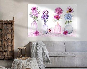Blumen in Vasen von Geertje Burgers