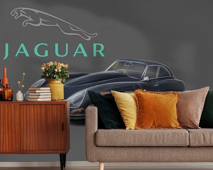 Beispiel fototapete: Jaguar E-type von Rakesh Soekhoe