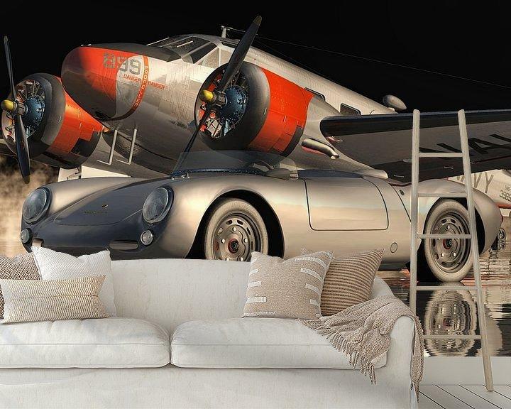 Beispiel fototapete: Der Porsche 550 Spyder der ikonischste Sportwagen von Jan Keteleer