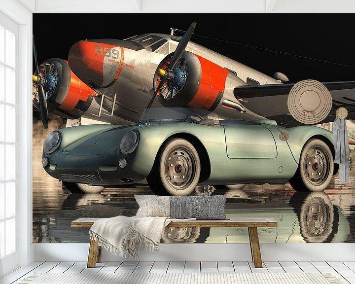 Beispiel fototapete: Porsche 550-A Spyder von 1956 von Jan Keteleer