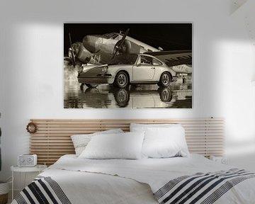 Schwarz-Weiß-Foto eines Porsche 911 von Jan Keteleer