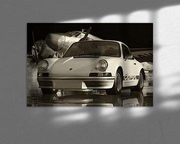 Schwarz-Weiß-Foto eines Porsche 911 Carrera von Jan Keteleer