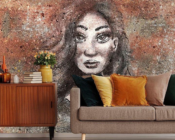 Beispiel fototapete: Rostbraun von Wanddecoratie