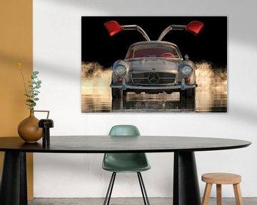 Das Design des Mercedes 300SL Flügeltürers aus den Sechzigern von Jan Keteleer