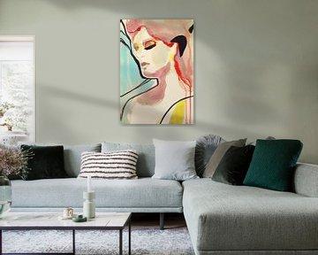 Rêves turquoises sur Helia Tayebi Art